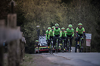 Team Cannondale-Drapac during their Liège-Bastogne-Liège 2017 recon<br /> <br /> 103rd Liège-Bastogne-Liège 2017 (1.UWT)<br /> One Day Race: Liège › Ans (258km)