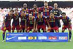 Football -Barcelona's team group during Barcelona vs Hercules match at Camp Nou stadium in Barcelona, September 11, 2010.