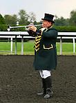 Steve Buttleman Keeneland's new Bugler.  October 05, 2013.
