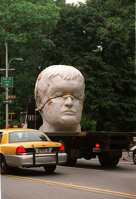 The head of Julius Caesar (on Central Park West).