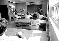 Education en francais au Quebec en 1973<br /> <br /> PHOTO : Alain Renaud - Agence quebec Presse