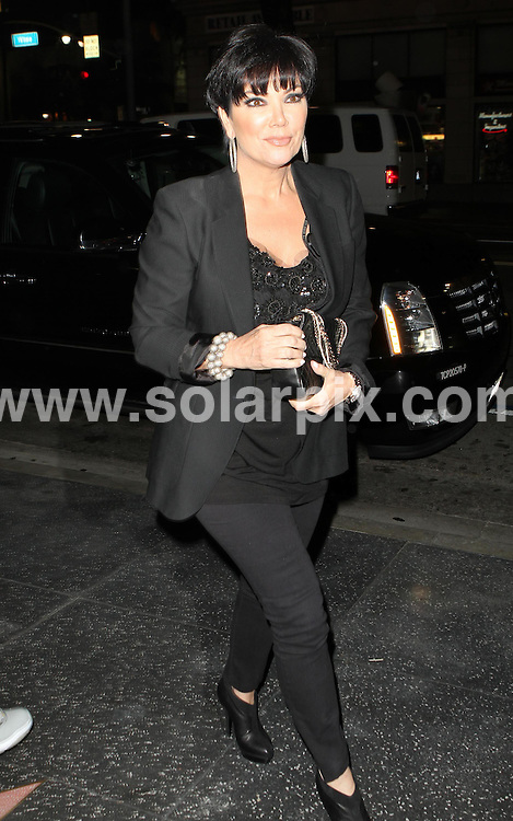 **ALL ROUND PICTURES FROM SOLARPIX.COM**.**SYNDICATION RIGHTS FOR UK AND SPAIN ONLY**.American model and socialite Kim Kardashian and her mother Kris Jenner were seen out for dinner at Katsuya restaurant in West Hollywood, California, USA. 2 June 2010..This pic: Kris Jenner..JOB REF: 11392 PRT        DATE: 02_06_2010.**MUST CREDIT SOLARPIX.COM OR DOUBLE FEE WILL BE CHARGED**.**MUST NOTIFY SOLARPIX OF ONLINE USAGE**.**CALL US ON: +34 952 811 768 or LOW RATE FROM UK 0844 617 7637**
