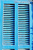 typical blue painted window shutter<br /> <br /> típica persiana azul<br /> <br /> typischer blauer Fensterladen<br /> <br /> 3360 x 2240 px<br /> Original: 35 mm