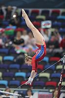12th March 2020, Baku, Azerbaijan;  2020 Artistic World Cup Gymnastics Tournament;  Daria Spiridonova, RUS, during qualification on bars