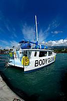 The Body Glove dive and snorkel tour boat Kailua Bay , Kailua Kona . The Big Island of Hawaii