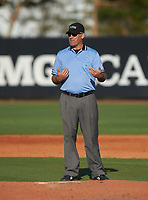 Field umpire during an IMG Academy Ascenders game against the Victory Charter School Knights on February 28, 2020 at IMG Academy in Bradenton, Florida.  (Mike Janes/Four Seam Images)
