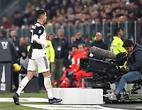 Calcio, Serie A: Juventus - Milan, Turin, Allianz Stadium, November 10, 2019.<br /> Juventus' Cristiano Ronaldo leaves the pitch after being substituted during the Italian Serie A football match between Juventus and Milan at the Allianz stadium in Turin, November 10, 2019.<br /> UPDATE IMAGES PRESS/Isabella Bonotto
