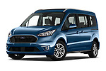 Stock pictures of low aggressive front three quarter view of 2020 Ford Grand-Tourneo-Connect Titanium 5 Door Minivan Low Aggressive