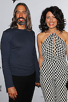 LOS ANGELES, CA, USA - NOVEMBER 18: Robert Russell, Lisa Edelstein arrive at the Los Angeles Premiere Of Bravo's 'Girlfriends' Guide to Divorce' held at the Ace Hotel on November 18, 2014 in Los Angeles, California, United States. (Photo by Celebrity Monitor)