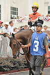 5 July 2009: Closeout and jockey Robbie Albarado in the paddock before the 28th running of the G3 Locust Grove Handicap at Churchill Downs in Louisville, Kentucky.