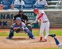 30 April 2017: Washington Nationals infielder Trea Turner at bat in the 3rd inning against the New York Mets at Nationals Park in Washington, DC. The Nationals defeated the Mets 23-5, with the Nationals setting several individual and team records, in the third game of their weekend series. Mandatory Credit: Ed Wolfstein Photo *** RAW (NEF) Image File Available ***