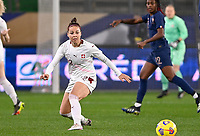 Swiss Vanessa Bernauer (22) pictured in action during the 2nd Womens International Friendly game between France and Switzerland at Stade Saint-Symphorien in Longeville-lès-Metz, France.
