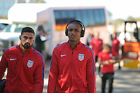 San Diego, CA - Sunday January 29, 2017: Juan Agudelo prior to an international friendly between the men's national teams of the United States (USA) and Serbia (SRB) at Qualcomm Stadium.