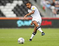 11th September 2021; Swansea.com Stadium, Swansea, Wales; EFL Championship football, Swansea versus Hull City; Kyle Naughton of Swansea City passes the balll forward