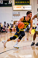 16 March 2019: UMBC Retriever Guard Jose Placer, a Freshman from Orlando, FL, in first half action against the University of Vermont Catamounts, in the America East Championship Game at Patrick Gymnasium in Burlington, Vermont. The Catamounts defeated the Retrievers 66-49 to take the AE Championship for the 2018/2019 NCAA Men's Basketball season. Mandatory Credit: Ed Wolfstein Photo *** RAW (NEF) Image File Available ***