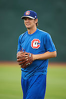 Chattanooga Lookouts pitcher Greg Peavey during practice before a game against the Jacksonville Suns on April 30, 2015 at AT&T Field in Chattanooga, Tennessee.  Jacksonville defeated Chattanooga 6-4.  (Mike Janes/Four Seam Images)