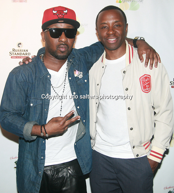 O'Neal McKnight and Guest  Attend Greenhouse Presents The 1st Annual Welcome To The League Party During NFL Draft Week hosted by Pro-bowler Jason Babin and 2 Time Superbowl Champ Jarvis Green  at Greenhouse, NY 4/28/11
