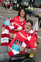 Gurpreet Kaur and Tony Griffiths ready to board the bus to Bristol