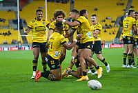 during the Super Rugby Aotearoa match between the Hurricanes and Chiefs at Sky Stadium in Wellington, New Zealand on Saturday, 20 March 2020. Photo: Dave Lintott / lintottphoto.co.nz
