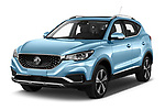 2020 Mg MG-ZS-EV Luxury 5 Door SUV Angular Front automotive stock photos of front three quarter view
