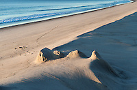 Remenants of a sand castle at Nauset Beach, Cape Cod, Massachusetts, USA