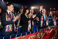 -- NO TABLOIDS NO SITE WEB - 41st International Circus Festival of Monte-Carlo Opening. H.S.H. Prince Albert II of Monaco, H.S.H. Princess Stephanie of Monaco, daughter Pauline Ducruet and son Louis Ducruet with girlfriend Marie attend the 41st International Circus Festival of Monte-Carlo opening.