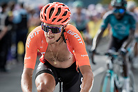 Matteo Trentin (ITA/CCC) up the Puy Mary (uphill finish)<br /> <br /> Stage 13 from Châtel-Guyon to Pas de Peyrol (Le Puy Mary) (192km)<br /> <br /> 107th Tour de France 2020 (2.UWT)<br /> (the 'postponed edition' held in september)<br /> <br /> ©kramon