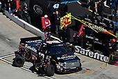 Noah Gragson, Kyle Busch Motorsports, Toyota Tundra Safelite, makes a pit stop.