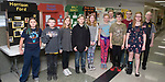 March 29, 2017- Tuscola, IL- Participants in the Illinois History Club Project received excellent ratings. From left are Liriel Jones, Douglas Ruggles, Reagan Smith, 1???, Skylar Wilkins, Makenzie Herschberger, 2???, Thomas Spillman, Caleb Haste, 3??, and sponsor Duane Huffman. [Photo: Douglas Cottle]