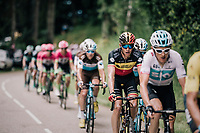 Belgian champion Oliver Naesen (BEL/AG2R-LaMondiale) riding in the wake of Team SKY<br /> <br /> Stage 5: Grenoble > Valmorel (130km)<br /> 70th Critérium du Dauphiné 2018 (2.UWT)