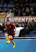 Calcio, Serie A: Roma, stadio Olimpico, 19 febbraio 2017.<br /> Roma's Francesco Totti in action during the Italian Serie A football match between As Roma and Torino at Rome's Olympic stadium, on February 19, 2017.<br /> UPDATE IMAGES PRESS/Isabella Bonotto
