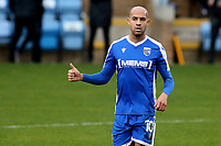 Jordan Graham celebrates scoring Gillingham's first goal during Gillingham vs Charlton Athletic, Sky Bet EFL League 1 Football at the MEMS Priestfield Stadium on 21st November 2020