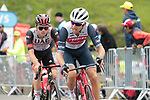 Bauke Mollema (NED) Trek-Segafredo and Marc Hirschi (SUI) UAE Team Emirates on the final climb of Luz-Ardiden during Stage 18 of the 2021 Tour de France, running 129.7km from Pau to Luz-Ardiden, France. 15th July 2021.  <br /> Picture: Colin Flockton   Cyclefile<br /> <br /> All photos usage must carry mandatory copyright credit (© Cyclefile   Colin Flockton)