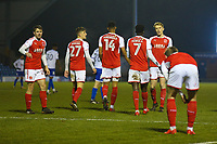 GOAL - Fleetwood Town's Jordy Hiwula celebrates scoring his sides third goal with team-mate  during the The Checkatrade Trophy match between Bury and Fleetwood Town at Gigg Lane, Bury, England on 9 January 2018. Photo by Juel Miah/PRiME Media Images.
