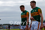 David Clifford, Kerry, and Diarmuid O'Connor, Kerry, after the Allianz Football League Division 1 Semi-Final, between Tyrone and Kerry at Fitzgerald Stadium, Killarney, on Saturday.
