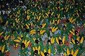 Rio de Janeiro, Brazil. Carnival: Imperatrice samba school with banana tree theme.