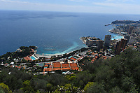 16th April 2021; Roquebrune-Cap-Martin, France;  General view of the Monte Carlo Country Club and coastline  during the Rolex Monte Carlo Masters
