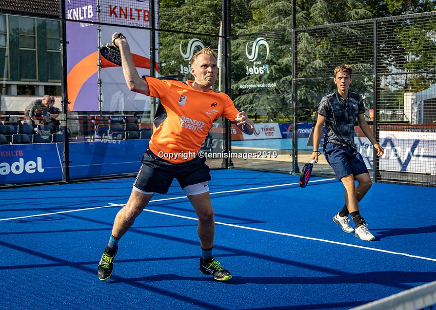 Rosmalen, Netherlands, 15 June, 2019, Tennis, Libema Open, NK Padel, Final mens double: Victor van Ruissen and Berend Boers (NED)<br /> Photo: Henk Koster/tennisimages.com