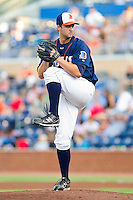 Starting pitcher Matt Torra #39 of the Durham Bulls in action against the Charlotte Knights at Durham Bulls Athletic Park on August 28, 2011 in Durham, North Carolina.   (Brian Westerholt / Four Seam Images)