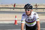 Team Sky Procycling World Champion Mark Cavendish (GBR) before the 2nd Stage of the 2012 Tour of Qatar an 11.3km team time trial at Lusail Circuit, Doha, Qatar. 6th February 2012.<br /> (Photo Eoin Clarke/Newsfile)