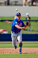7 March 2019: New York Mets infielder J.D. Davis in action during a Spring Training Game against the Washington Nationals at the Ballpark of the Palm Beaches in West Palm Beach, Florida. The Nationals defeated the visiting Mets 6-4 in Grapefruit League, pre-season play. Mandatory Credit: Ed Wolfstein Photo *** RAW (NEF) Image File Available ***