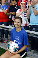 Saint Paul, MN - Tuesday September 03, 2019 : Ball kid prior to the USWNT 2019 Victory Tour match versus Portugal at Allianz Field, on September 03, 2019 in Saint Paul, Minnesota.