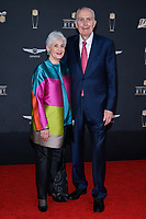 MIAMI, FL - FEBRUARY 1: Chandler Minter and Paul Tagliabue attends the 2020 NFL Honors at the Ziff Ballet Opera House during Super Bowl LIV week on February 1, 2020 in Miami, Florida. (Photo by Anthony Behar/Fox Sports/PictureGroup)