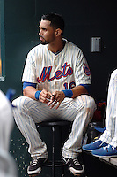 New York Mets outfielder Angel Pagan #16 during a game against the Milwakee Brewers at Citi Field on August 21, 2011 in Queens, NY.  Brewers defeated Mets 6-2.  Tomasso DeRosa/Four Seam Images