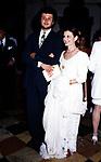 CARLA FRACCI CON IL FIGLIO FRANCESCO MENEGATTI<br /> AMFAR FOUNDATION CHARITY GALA PALAZZO VOLPI VENEZIA 1993