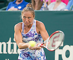 Kateryna Bondarenko (UKR) battles against Madison Keys (USA) at the Family Circle Cup in Charleston, South Carolina on April 8, 2015.
