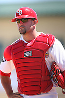 April 15, 2009:  Catcher Nick Derba (19) of the Palm Beach Cardinals, Florida State League Class-A affiliate of the St. Louis Cardinals, during a game at Roger Dean Stadium in Jupiter, FL.  Photo by:  Mike Janes/Four Seam Images