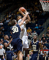 Richard Solomon of California shoots the ball during the game against George Washington at Haas Pavilion in Berkeley, California on November 13th, 2011.  California defeated George Washington, 81-54.