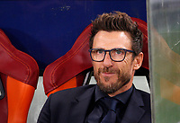 Roma s coach Eusebio Di Francesco waits for the start of the Champions League Group C soccer match between Roma and Chelsea at Rome's Olympic stadium, October 31, 2017.<br /> UPDATE IMAGES PRESS/Riccardo De Luca