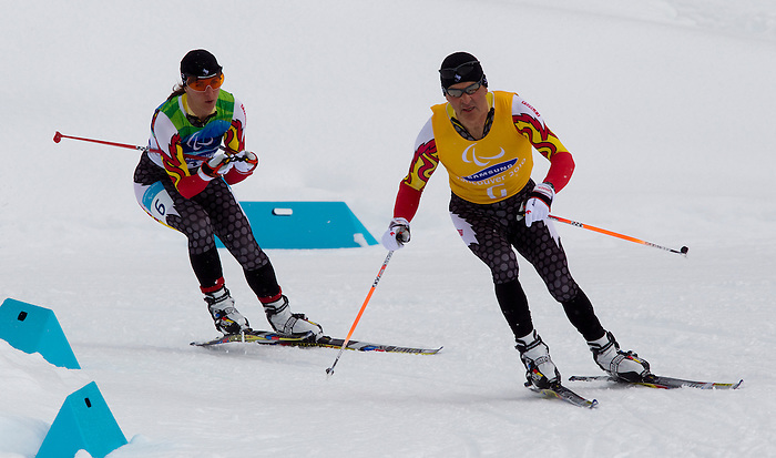 Robbi Weldon, Vancouver 2010 - Para Nordic Skiing // Ski paranordique.<br /> Robbi Weldon competes in Para Biathlon // Robbi Weldon participe en parabiathlon. 13/03/2010.